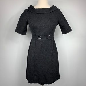 WHBM Charcoal Grey Fitted Collar Dress